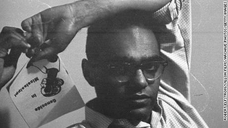 """Moses, seen here in New York in 1964, was the recipient of a MacArthur """"Genius grant."""""""
