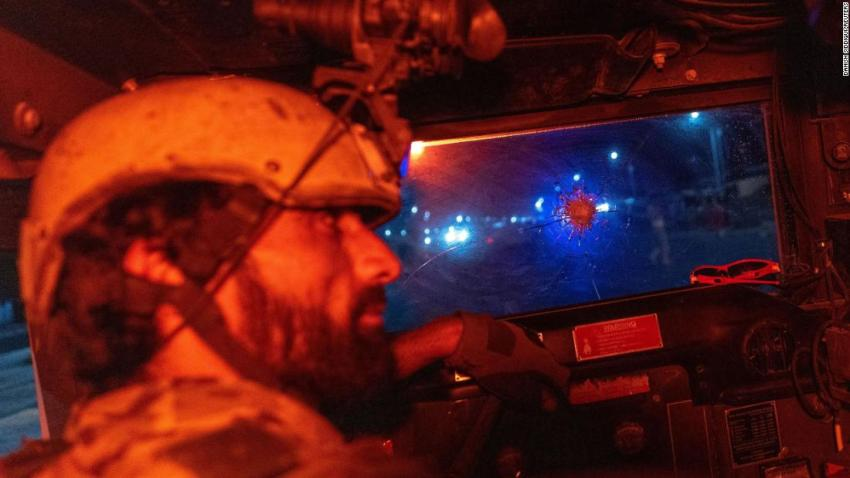 """A member of the Afghan Special Forces drives a Humvee during a combat mission against the Taliban on July 11. Danish Siddiqui, the Reuters photographer who took this photo,<a href=""""https://www.cnn.com/2021/07/16/media/danish-siddiqui-reuters-journalist-afghanistan/index.html"""" target=""""_blank"""">was killed days later</a> during clashes in Afghanistan.Siddiqui had been a photographer for Reuters since 2010, and he was the news agency's chief photographer in India. He was also part of a Reuters team that won the 2018 Pulitzer Prize for Feature Photography covering Rohingya refugees fleeing Myanmar."""