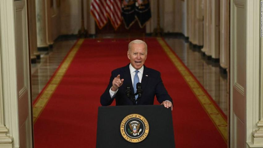 """US President Joe Biden <a href=""""https://www.cnn.com/2021/08/31/politics/biden-afghanistan-withdrawal-speech/index.html"""" target=""""_blank"""">delivers a speech at the White House</a> on August 31, defending the chaotic withdrawal from Kabul a day after the last American military planes left Afghanistan. The withdrawal concluded <a href=""""http://www.cnn.com/2021/04/14/middleeast/gallery/afghanistan-war/index.html"""" target=""""_blank"""">the United States' longest war</a> nearly 20 years after it began. """"I was not going to extend this forever war, and I was not extending a forever exit,"""" Biden said."""
