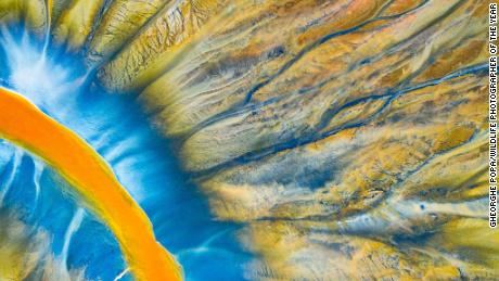 A small river in the Geamana Valley, within Romania's Apuseni Mountains, and its constantly changing patterns.