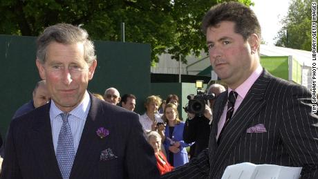 Prince Charles with his then-valet Michael Fawcett in an undated file photograph.