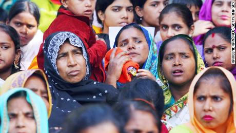 Indian Dalit Christian and Muslim women take part in a 2007 rally in New Delhi against the National Commission for Scheduled Castes and Scheduled Tribes after it rejected special arrangements for non-Hindu Dalits.