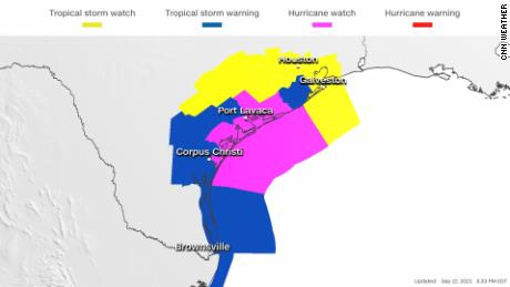 Texas under hurricane watch ahead of Tropical Storm Nicholas