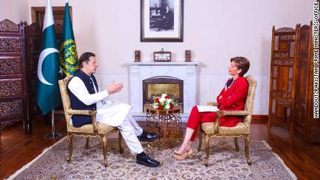 CNN's Becky Anderson interviewed Imran Khan on Wednesday.