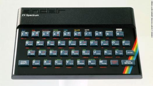 The ZX Spectrum, released in 1982, boosted the popularity of computer games in the UK.