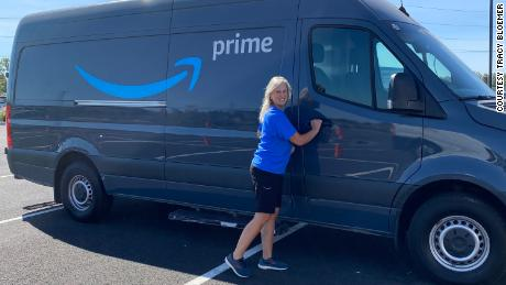 Tracey Bloemer owned a small business delivering packages for Amazon in Portland, Oregon.