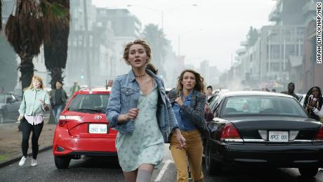 Zaira Gorecki and Natalie Zia on NBC's 'La Brea';  (Sarah Antiknap/NBC)