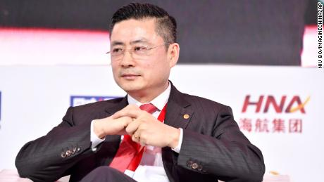 HNA Group CEO Tan Jiangdong attends a conference in Beijing in November 2017.