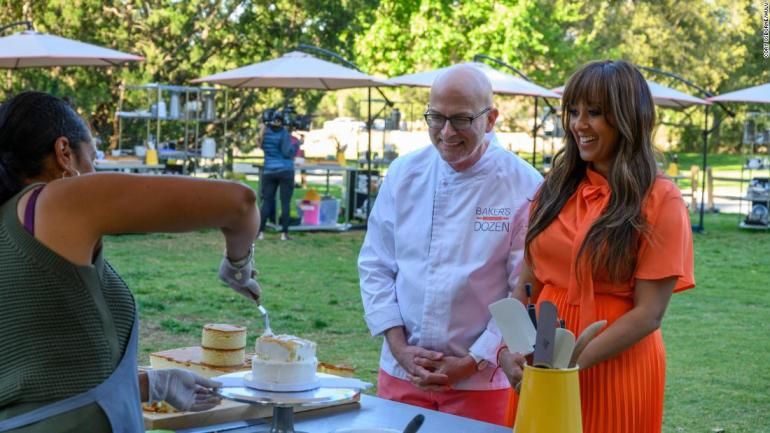 """<strong>""""Baker's Dozen""""</strong>: Contestants seek to make it to the top three to wow guest judge Loria Stern with their baking skills in this reality competition. <strong>(Netflix) </strong>"""