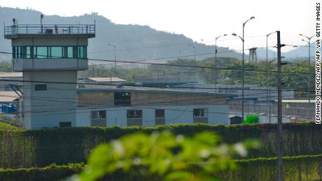 General view of the Guayas 1 prison on the outskirts of Guayaquil, Ecuador, retrieved October 1, 2021.