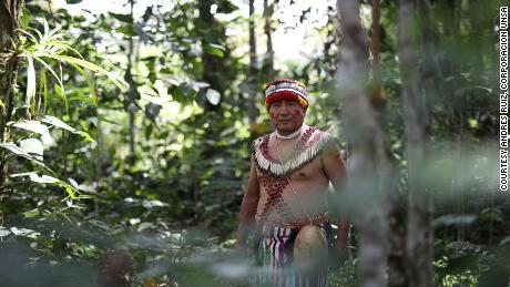 The Shuar people live in the jungle mountain range that extends into Ecuador and Peru.  The picture is of Tomas Ancu, a Shure community in Chumpias, in the Morona Santiago province of Ecuador.