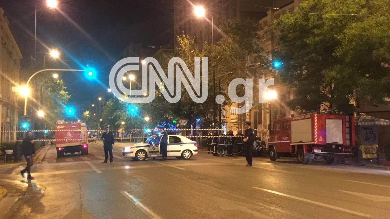 Έκρηξη βόμβας έξω από τράπεζα στο κέντρο της Αθήνας