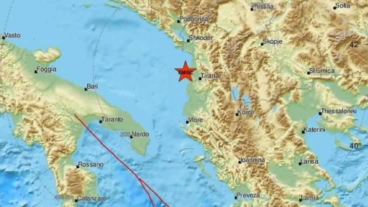 Ισχυρός σεισμός 6,4 Ρίχτερ στην Αλβανία - Αισθητός σε πολλές περιοχές