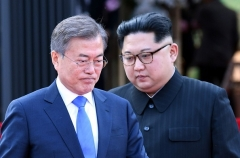 Inter-Korean tensions have soured significantly since the goodwill generated by the summit between Kim Jong Un and South Korean President Moon Jae-in in April 2018. (Photo by Korea Summit press pool/AFP via Getty Images)