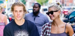 Justin Bieber and his wife, Hailey Baldwin. (Getty Images)