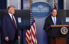 Health and Human Services Secretary Alex Azar speaks alongside President Trump at the White House on Sunday evening. (Photo by Saul Loeb/AFP via Getty Images)