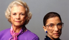 Former Associate Justices of the U.S. Supreme Court Sandra Day O'Connor and Ruth Bader Ginsburg.  (Getty Images)