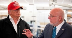 President Trump and CDC Director Dr. Robert Redfield. (Photo by Jim Watson/AFP via Getty Images)