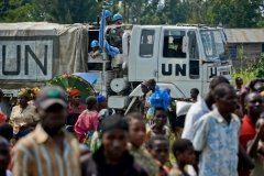 Refugees in a displaced persons' camp in Goma, Democratic Republic of Congo. (Photo by Thomas Lohnes/Getty Images)