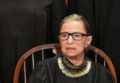 Associate Justice Ruth Bader Ginsburg poses for the official photo at the Supreme Court on November 30, 2018. (Photo by MANDEL NGAN/AFP via Getty Images)