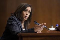 Sen. Kamala Harris debated Vice President Mike Pence on Wednesday night. (Photo credit: ALEXANDER DRAGO/POOL/AFP via Getty Images)