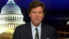 "Tucker Carlson hosts ""Tucker Carlson Tonight"" on Oct. 7, 2020. (Photo credit: YouTube/Fox News)"