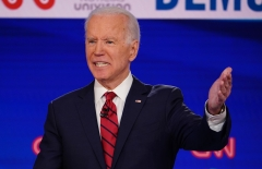 Joe Biden speaks in a Democratic presidential primary debate. (Photo credit:  MANDEL NGAN/AFP via Getty Images)