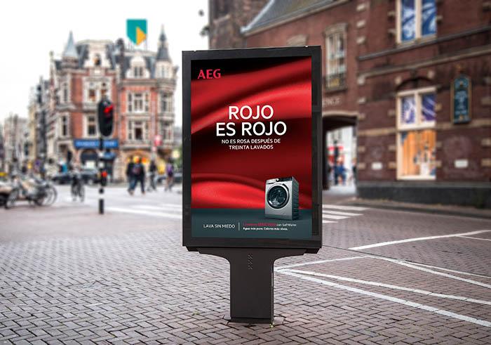 campaña de AEG, electrodomésticos aeg, encastre, lavado, marca AEG, rojo es rojo