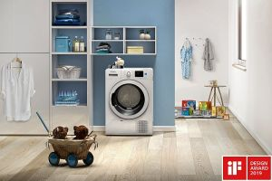 colección incorporada de Bauknecht, iF Design Awards, Indesit, Kitchen Aid, lavavajillas Glassholder, secadora Push&Go, sistema Power Clean, W Collection