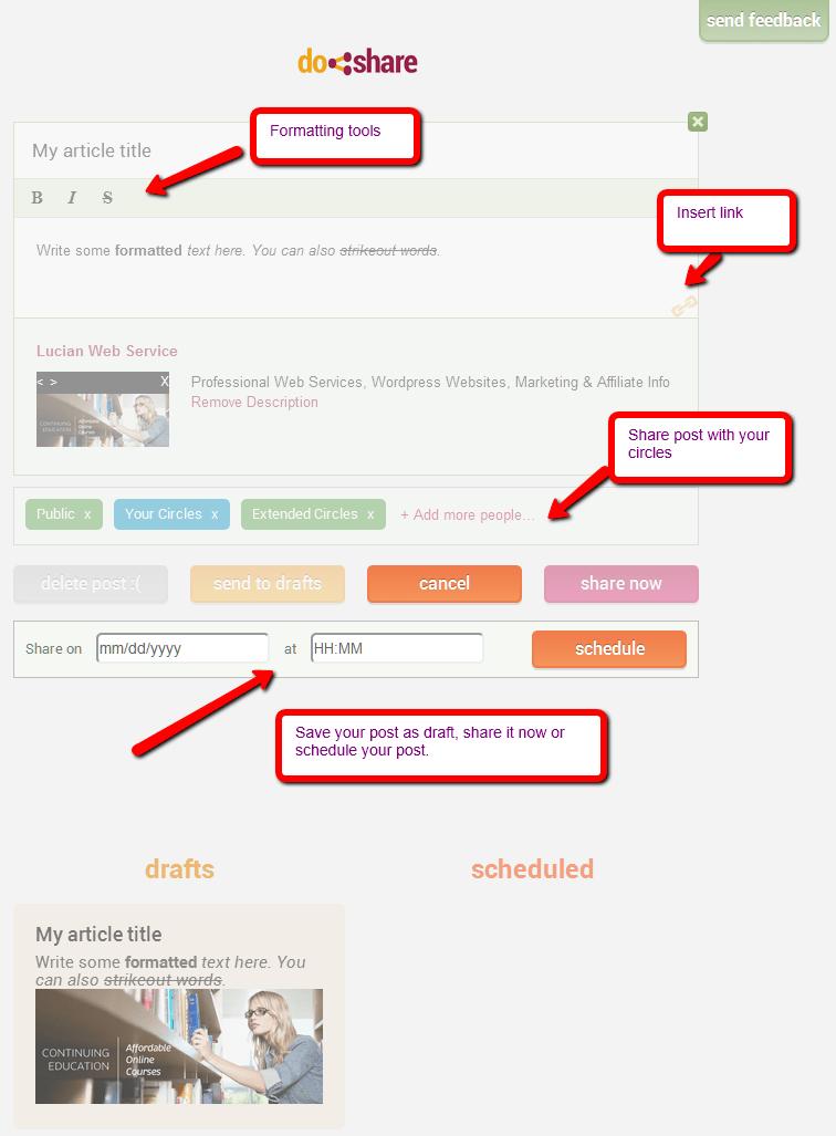 DoShare Extension