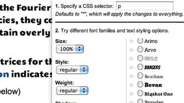 Google Font Previewer Extension