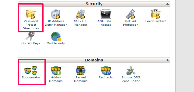 Temporary development URL
