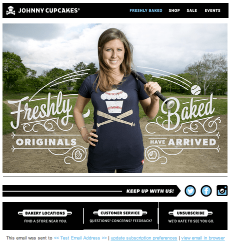 Johnny Cupcakes segmentation campaign