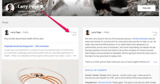 Larry Page Google plus