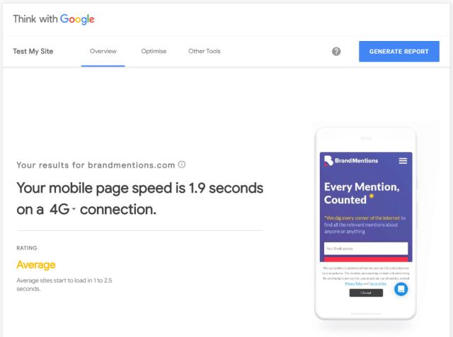 ThinkWithGoogle Test Mobile Speed