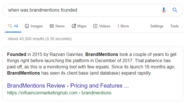 BrandMentions founded