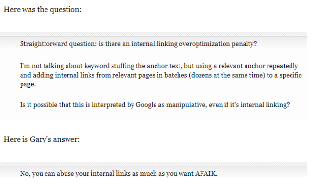 Gary Google Internal Linking