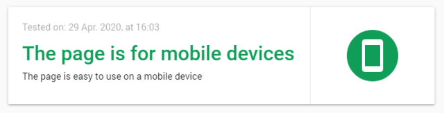 Mobile Friendly Test from Google