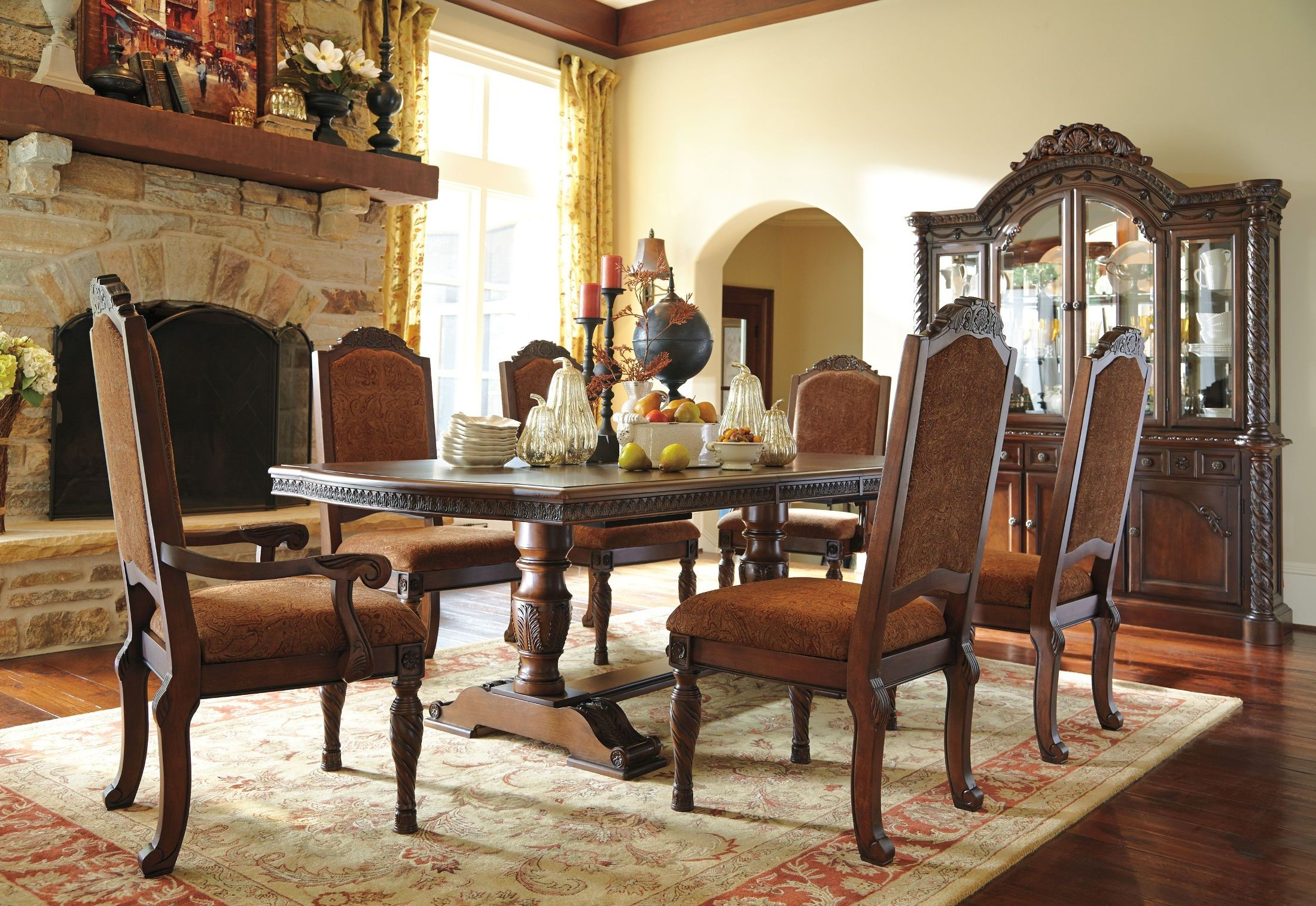 North Shore Dining Buffet Ashley Furniture D553 80