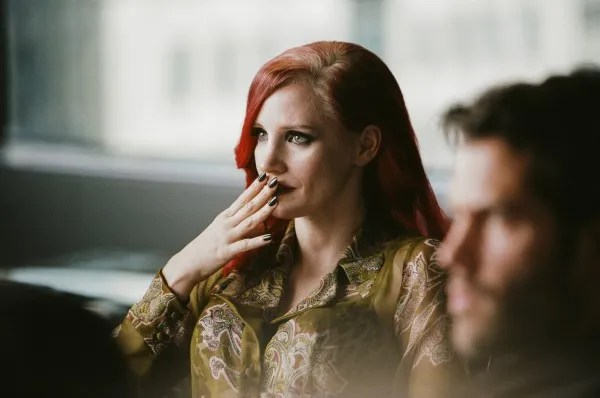 Jessica Chastain, The Death and Life of John F. Donovan set (Photo : Shayne Laverdière).