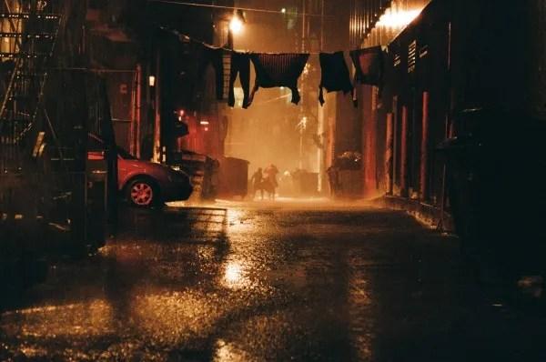 A night scene from The Death and Life of John F. Donovan set (Photo : Shayne Laverdière)