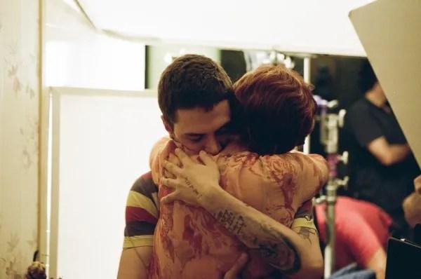 Susan Sarandon and director Xavier Dolan embrace; Photo: Shayne Laverdière