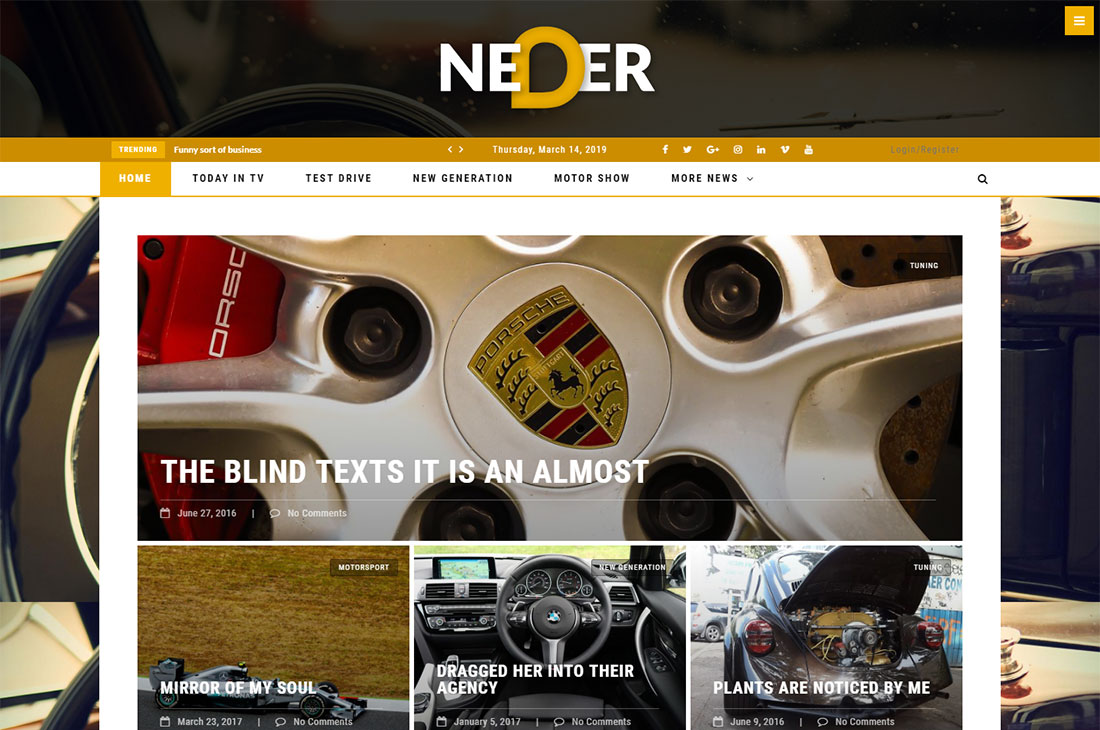 Neder cars revista wordpress temas