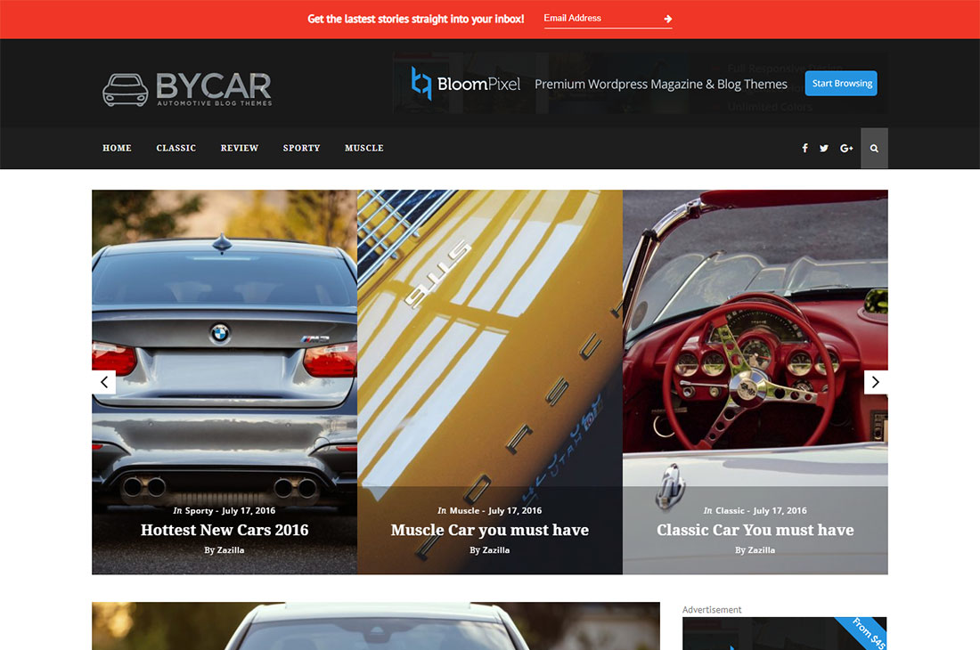 byblog cars magazine wordpress temas