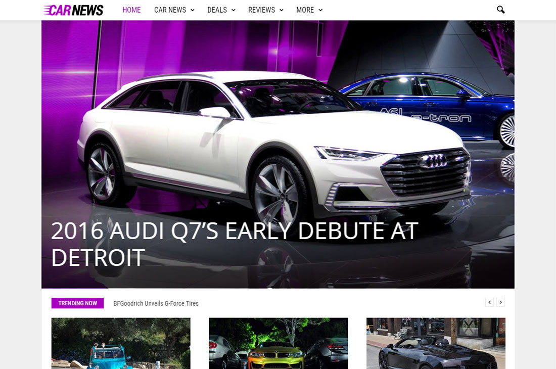 revista de autos newsmag temas de wordpress