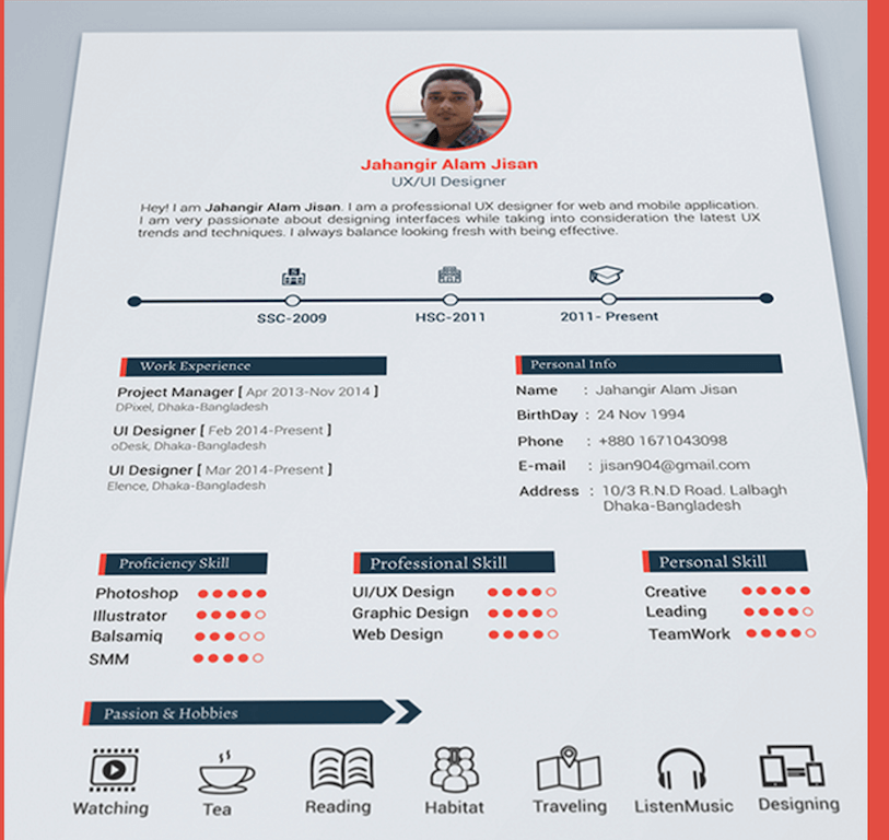top 27 best free resume templates psd amp ai 2017 colorlib