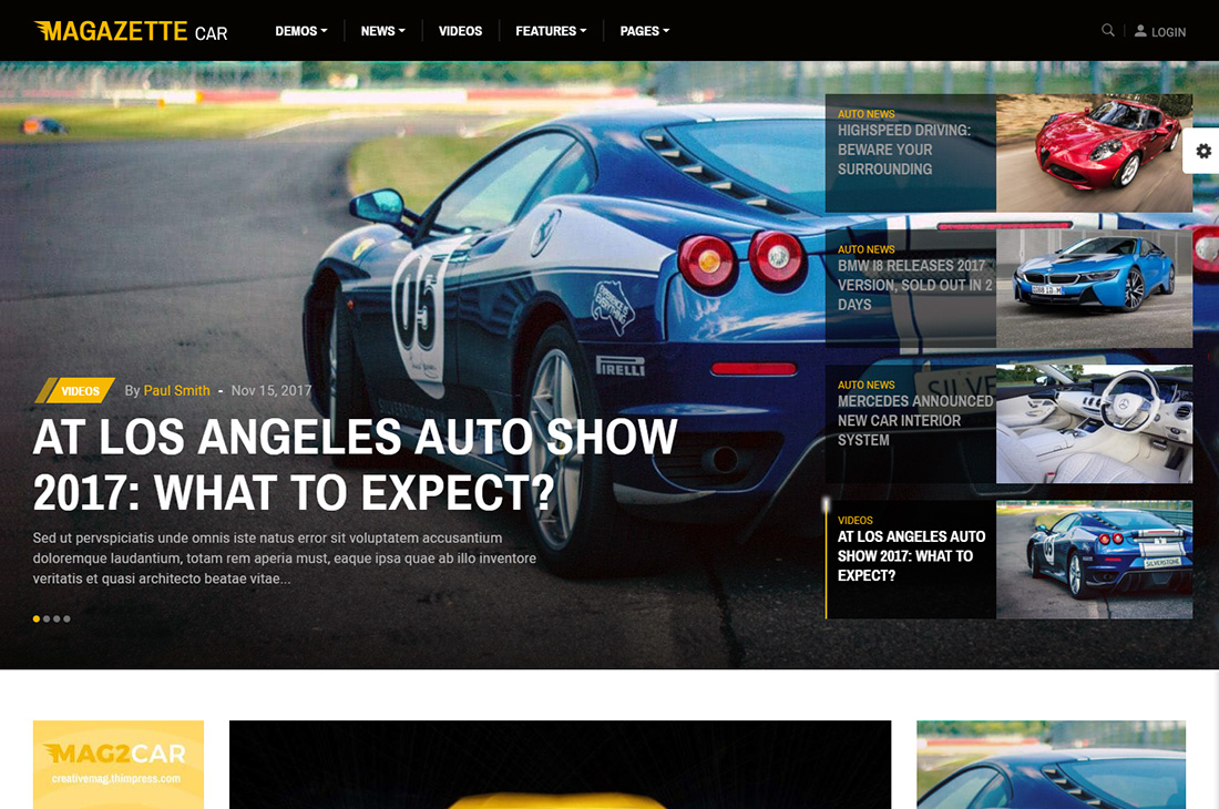 magazette coches revista wordpress temas