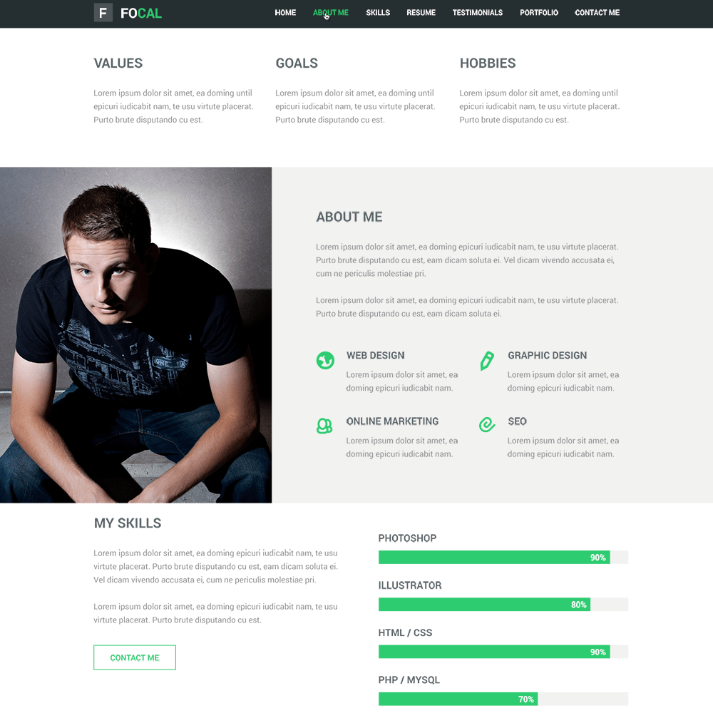 25 free psd portfolio and resume website templates 2016 colorlib