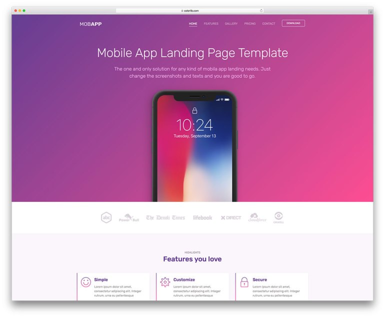 Free Bootstrap Landing Page