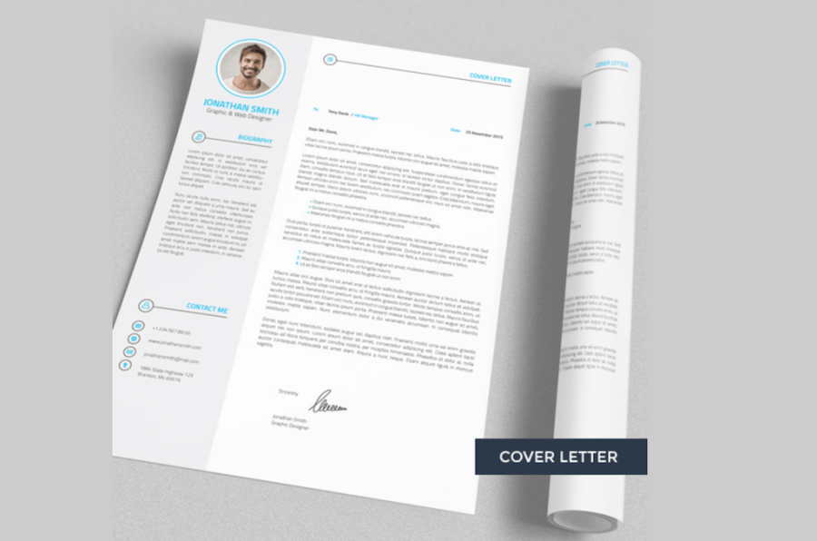 Best Free Resume Templates in PSD and AI in 2018   Colorlib Professional Resume   CV   4 Pieces by Naz Drag Studio